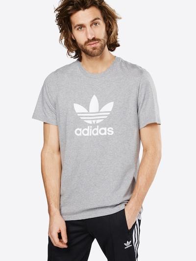 ADIDAS ORIGINALS Shirt 'TREFOIL' in graumeliert / weiß: Frontalansicht