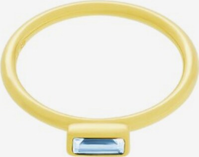 ID Fine Ring 'Baguette' in hellblau / gold, Produktansicht