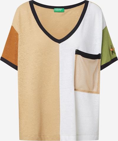 UNITED COLORS OF BENETTON Koszulka w kolorze nakrapiany brązowy / zielony / pomarańczowy / czarnym, Podgląd produktu