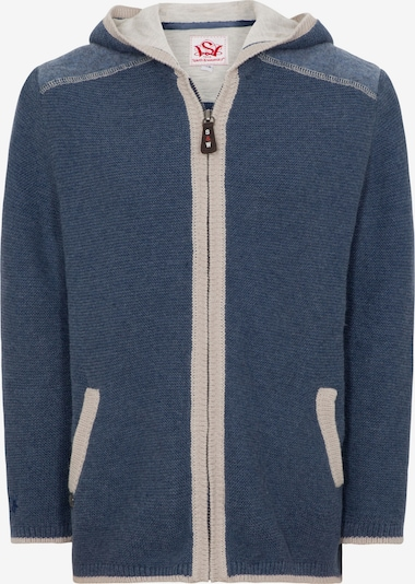 SPIETH & WENSKY Strickjacke 'Kater' in blue denim, Produktansicht