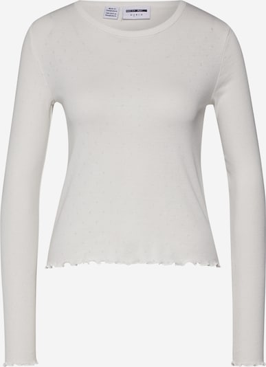 Noisy may Shirt 'NMANGALA L/S O-NECK TOP BG' in creme, Produktansicht
