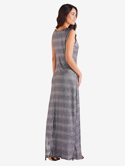Mela London Kleid  'SIDE SLIT SHIMMER MAXI DRESS' in schwarz: Rückansicht