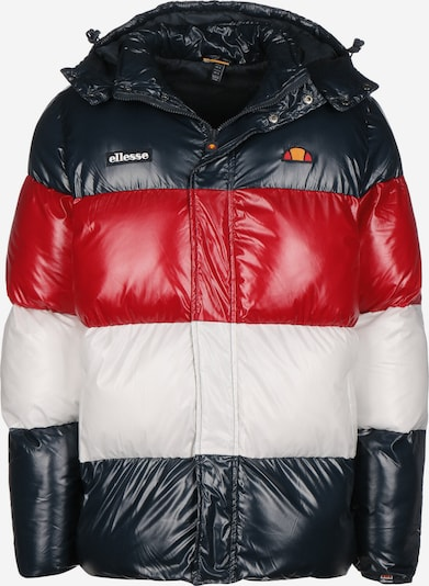 ELLESSE Winterjacke ' Alme Padded ' in rot / schwarz / weiß, Produktansicht