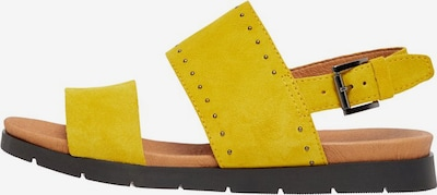 Bianco Sandalen in gelb: Frontalansicht
