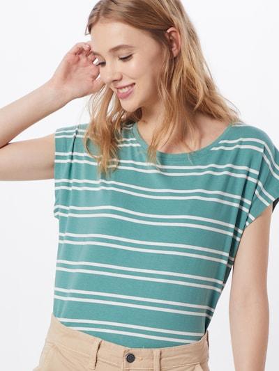 Blend She Shirt 'CELESTE L SS' in blau / weiß, Modelansicht