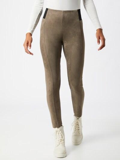 VERO MODA Leggings 'Cava' in schlammfarben / schwarz, Modelansicht