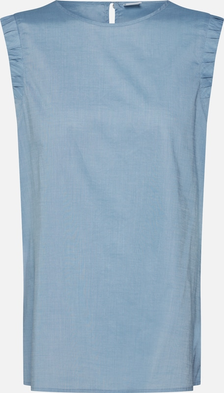 BOSS Bluse 'Citravel_2' in blau: Frontalansicht