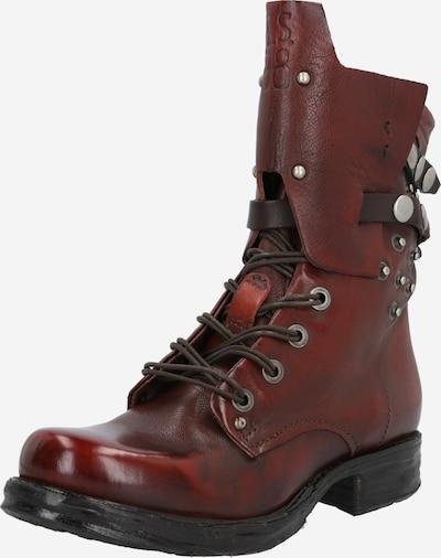 A.S.98 Stiefel 'Saintec' in rot / silber, Produktansicht