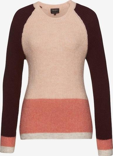 Herrlicher Pullover in braun / apricot / altrosa, Produktansicht