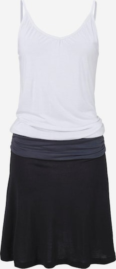 BEACH TIME Strandkleid in dunkelgrau / schwarz / weiß, Produktansicht