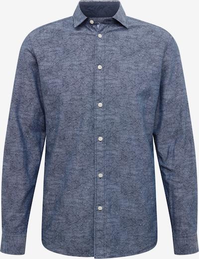 SELECTED HOMME Overhemd in de kleur Donkerblauw / Grijs: Vooraanzicht