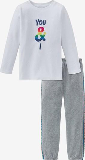SCHIESSER Schlafanzüge in grau / weiß, Produktansicht
