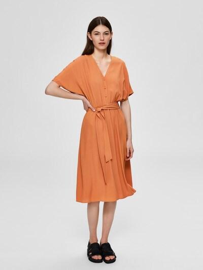 SELECTED FEMME Kleid in orange, Modelansicht