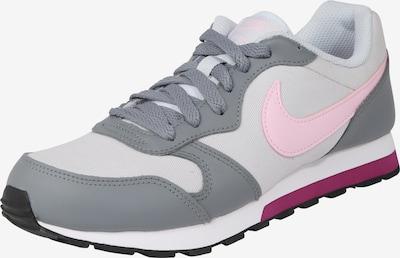 Nike Sportswear Sneaker 'Runner 2 (GS)' in grau / hellgrau / rosa: Frontalansicht