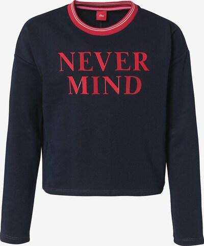 s.Oliver Junior Sweatshirt in nachtblau / hellrot, Produktansicht