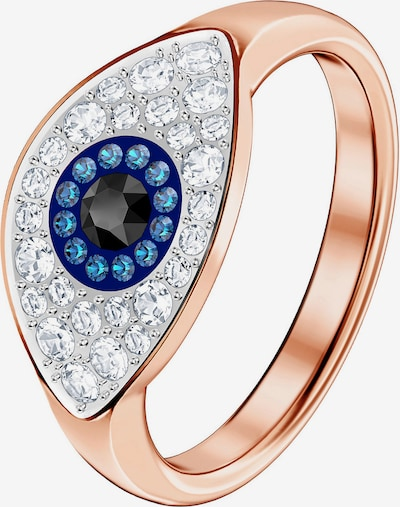 Swarovski Кing 'Duo Ring Evil Eye' in blau / rosegold / weiß, Produktansicht