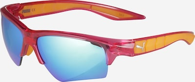 PUMA Saulesbrilles 'PU0056S-015 66 INJECTION' pieejami zils / oranžs / rozā, Preces skats
