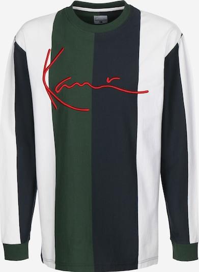 Karl Kani Longsleeve ' Signature Stripe ' in grün / schwarz / weiß, Produktansicht