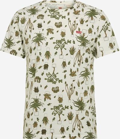 LEVI'S T-Krekls 'ORIGINAL HM TEE' pieejami olīvzaļš / gandrīz balts, Preces skats