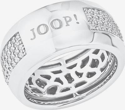 JOOP! Ring in silber / weiß, Produktansicht