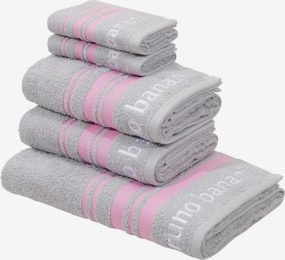 BRUNO BANANI Handtuch Set 'Daniel' in hellgrau / rosa / weiß, Produktansicht