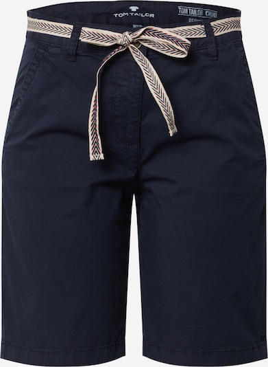 TOM TAILOR Pantalon chino en bleu foncé: Vue de face