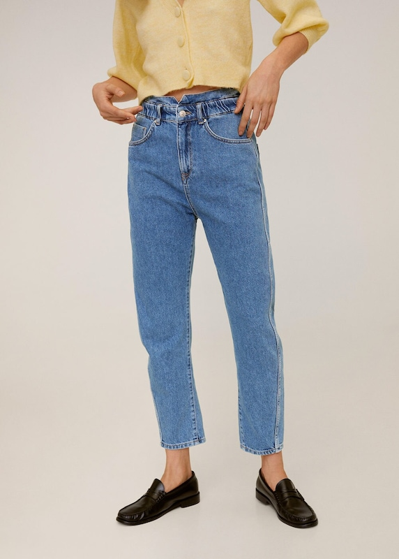 MANGO Jeans 'Slouchy' in blue denim, Modelansicht