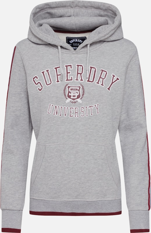 Superdry Sweatshirt 'SD UNIVERSITY ENTRY HOOD' in grau, Produktansicht