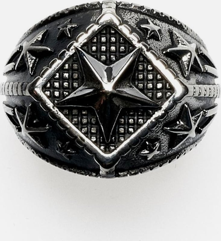 ROYAL-EGO Ring 'Sterne' - Bling silver, 1718« in silbergrau: Frontalansicht