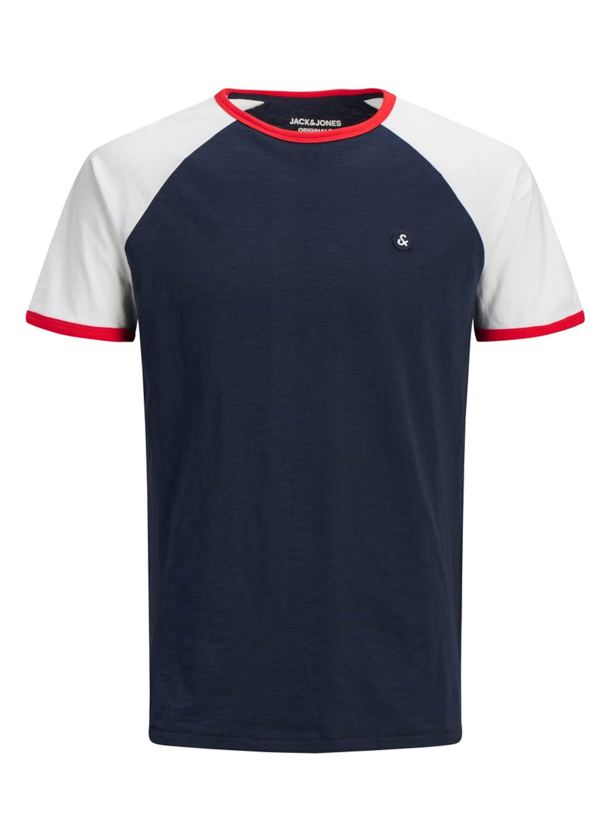 T shirt Rot Jackamp; In CremeBlaumeliert Jones cjq354ARLS