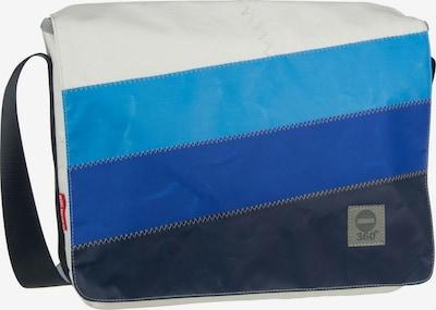 360 Grad Umhängetasche in blau / hellblau / weiß, Produktansicht