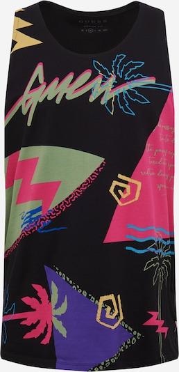 Marškinėliai 'EDITORIAL' iš GUESS , spalva - žaliosios citrinos spalva / purpurinė / rožinė / juoda, Prekių apžvalga