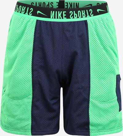NIKE Pantalon de sport en bleu marine / vert fluo, Vue avec produit