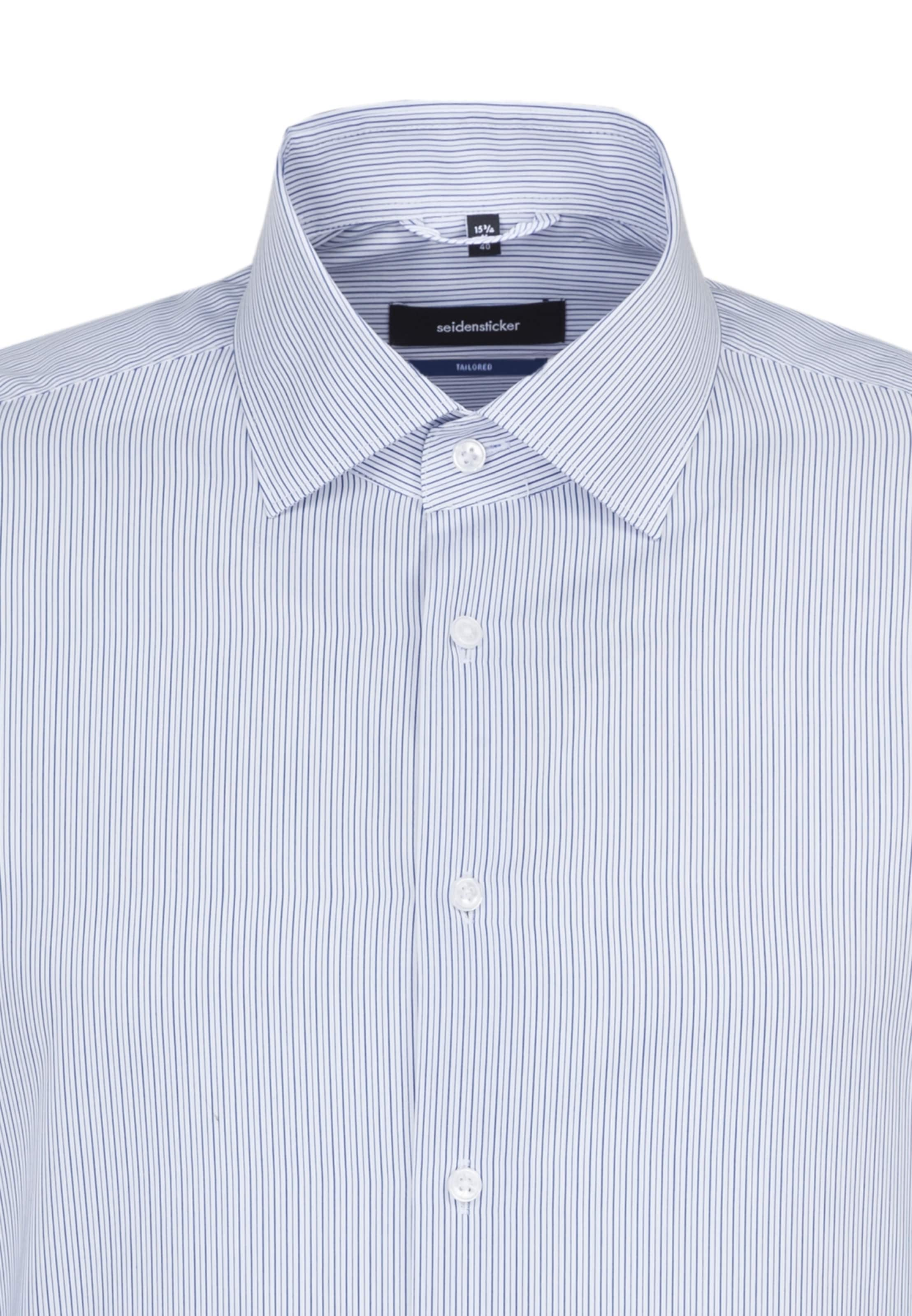Chemise Business Seidensticker MarineBlanc En Business Seidensticker Chemise P8wnk0O