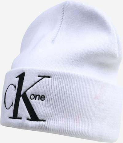 Calvin Klein Jeans Mütze 'CK1' in schwarz / weiß, Produktansicht