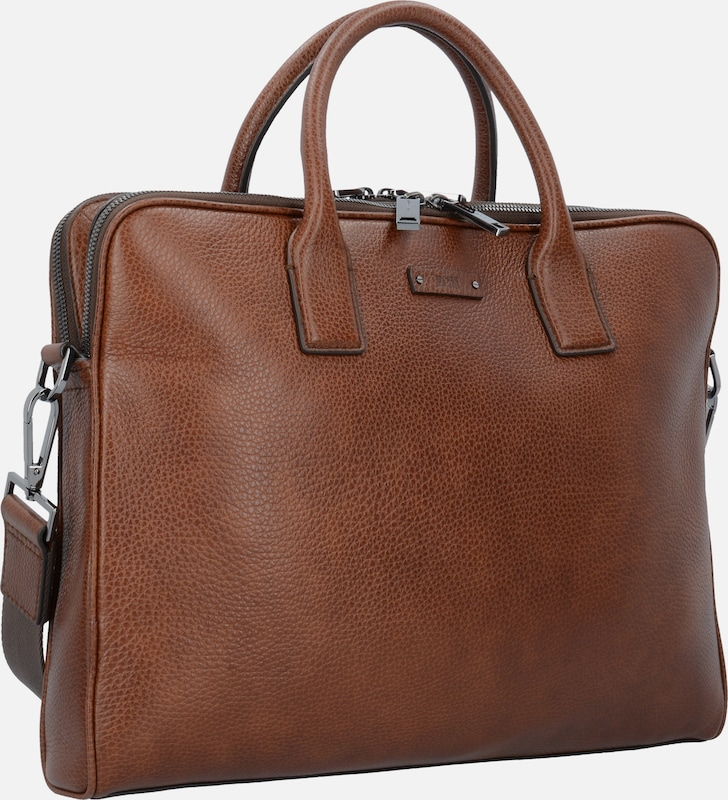 BOSS Traveller Businesstasche Leder 39 cm Laptopfach