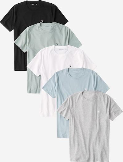 Abercrombie & Fitch Tričko - svetlomodrá / sivá / svetlozelená / čierna / biela, Produkt