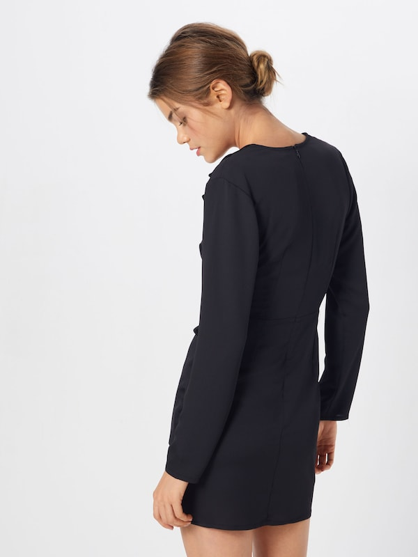 Robe Dress' En Missguided 'satin Noir Blazer luKcF1TJ3