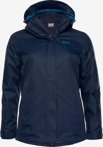 JACK WOLFSKIN Outdoor Jacket in Blue