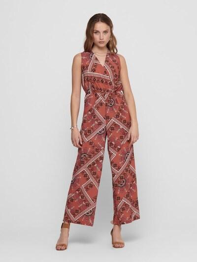 ONLY Jumpsuit in rosé / pastellrot / dunkelrot / schwarz / weiß, Modelansicht