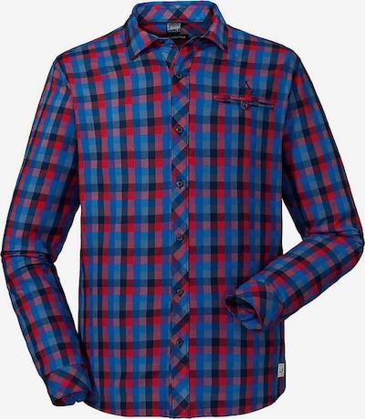 Schöffel Hemd 'Stockholm2 8730 Prince' in enzian / taubenblau / himmelblau / rot, Produktansicht