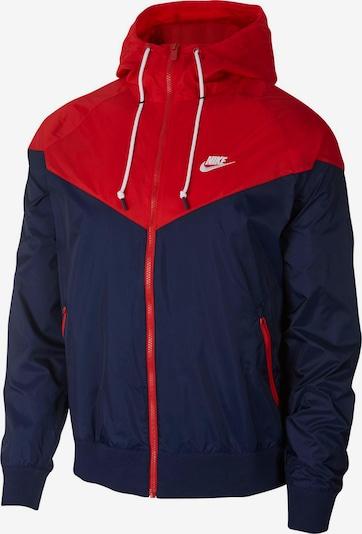 Nike Sportswear Jacke in dunkelblau / rot: Frontalansicht