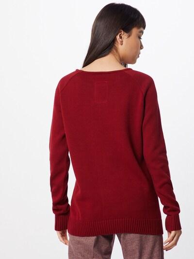 bleed clothing Sweter 'Better Climate Sweater Ladies' w kolorze czerwone winom: Widok od tyłu