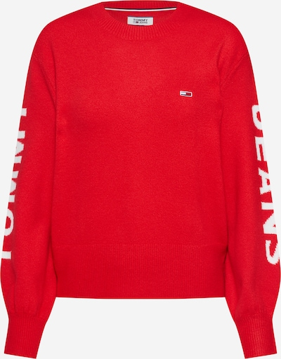Tommy Jeans Pullover in rot, Produktansicht