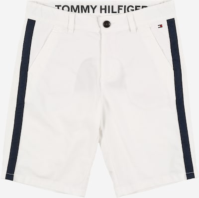 Pantaloni TOMMY HILFIGER pe negru / alb, Vizualizare produs