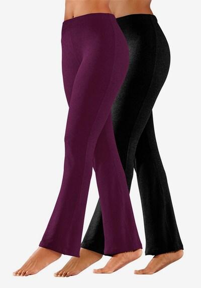 VIVANCE Leggings in beere / schwarz, Modelansicht
