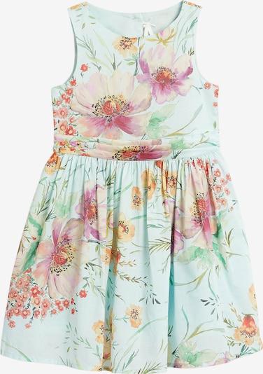 NEXT Kleid in himmelblau / pastellgrün / mischfarben: Frontalansicht