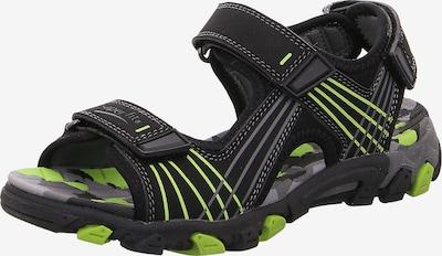 SUPERFIT Sandale 'HENRY' in neongrün / schwarz, Produktansicht