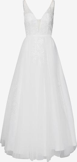 Unique Abendkleid in weiß, Produktansicht