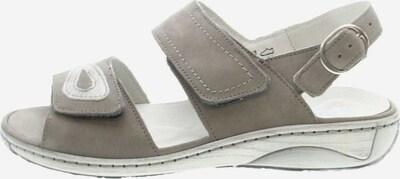 WALDLÄUFER Sandale in taupe / weiß, Produktansicht